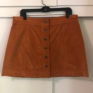 Madewell Velveteen Button Front Mini Skirt Sz 12